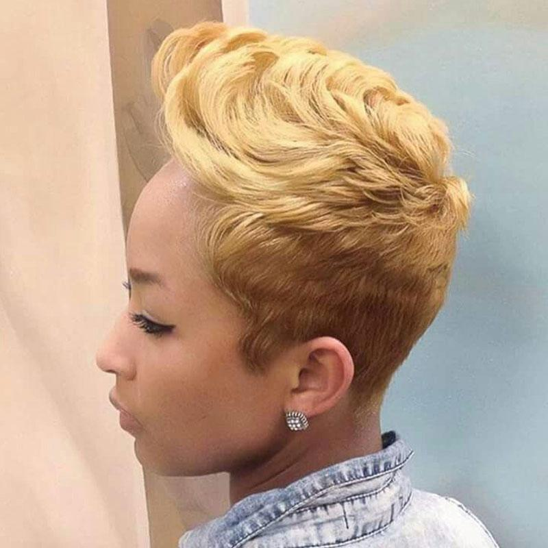 Luna 017 Sassy Short Pixie Layered Wig with Bangs for Black Women
