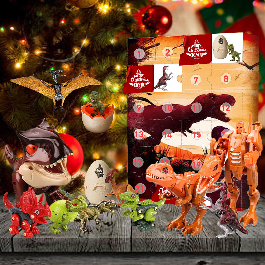 Dinosaurs Christmas Advent Calendar – 24 Surprise Limited Edition Gifts