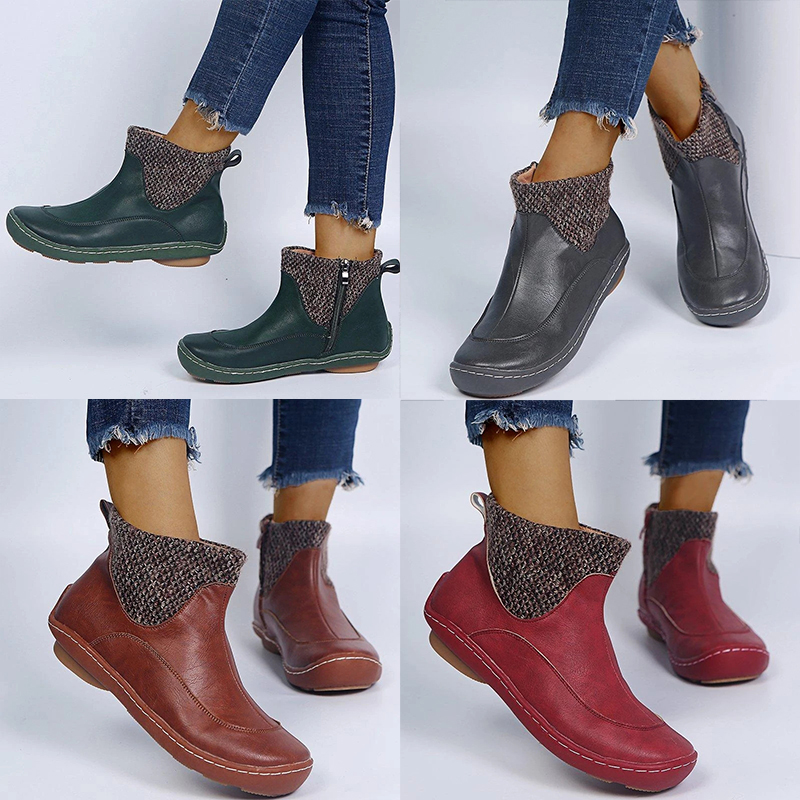 New women's shoes wool women's leather boots
