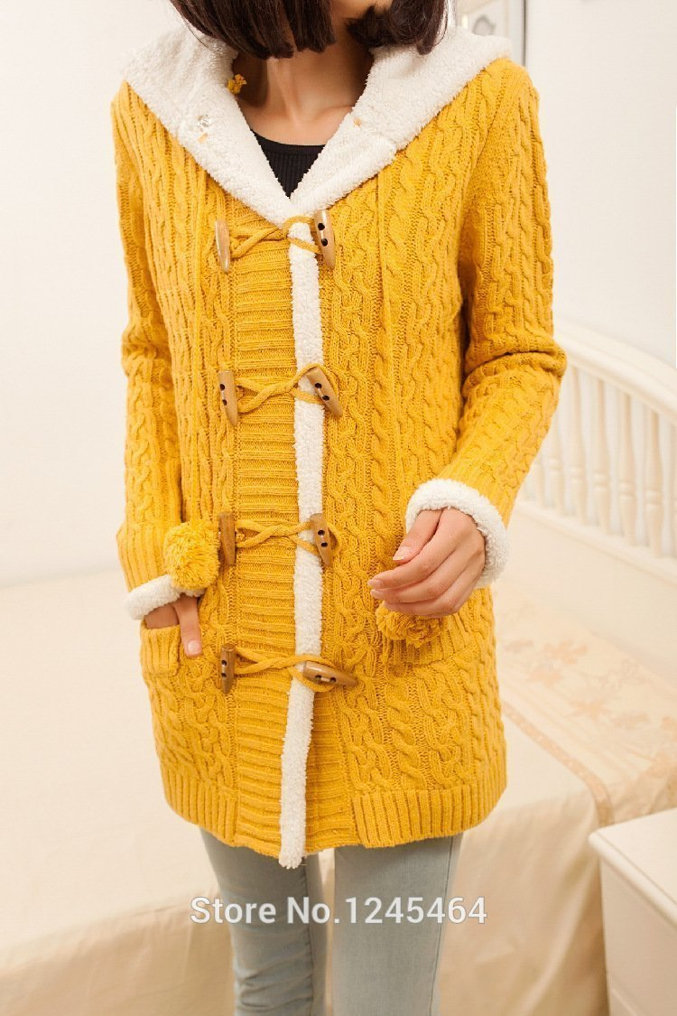 (FREE SHIPPING)2020 New cashmere thick warm hooded coat