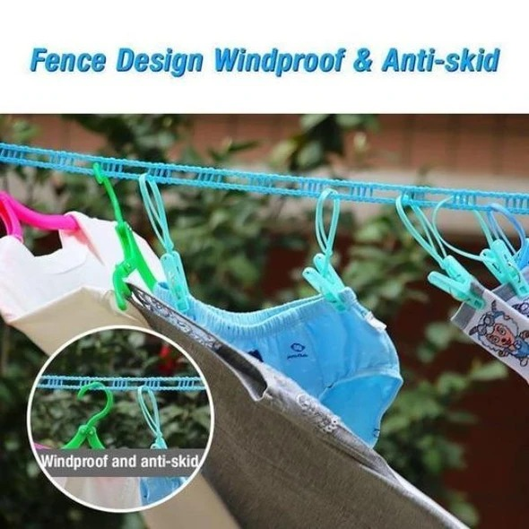 (SUMMER HOT SALE-50% OFF)Windproof Non-Slip Clothesline