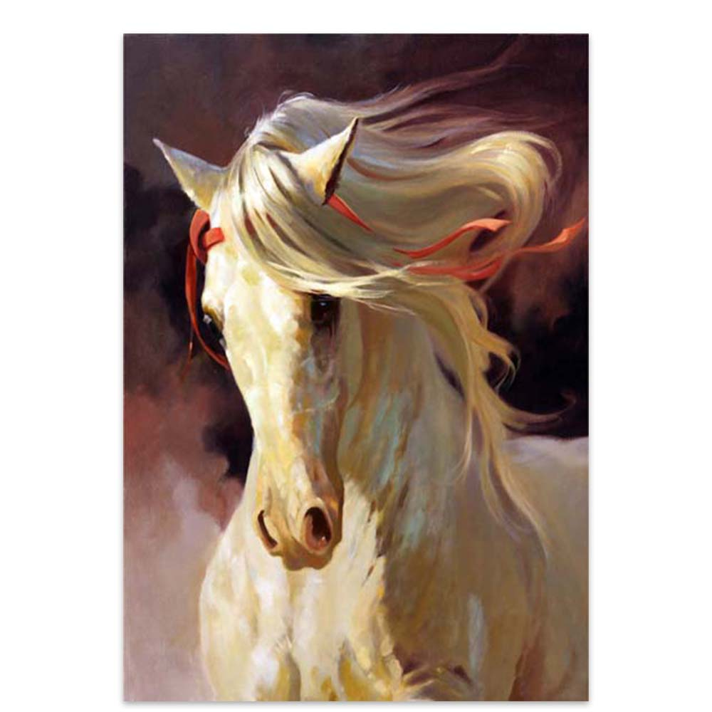 Large hand-painted abstract animal oil painting household items Chinese horse wall art oil painting