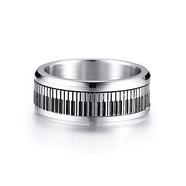 Men's Band Ring 1pc Silver Stainless Steel Artistic Trendy Hip-Hop Gift Daily Jewelry Stylish Cool
