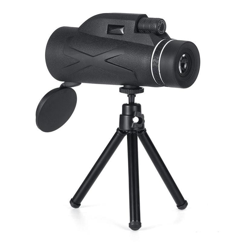 80x100 Monocular Telescope Prism Dual Focus HD Optical Lens with Triangle Bracket and Phone Clip HBZ