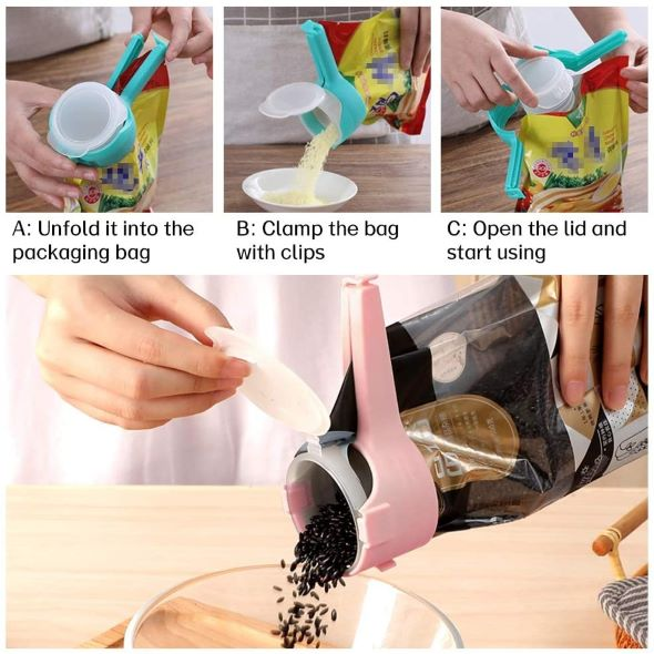 (Early Mother's Day Hot Sale-48% OFF) Seal Pour Food Storage Bag Clip(Buy 5 Get 3 Free & Free Shipping)