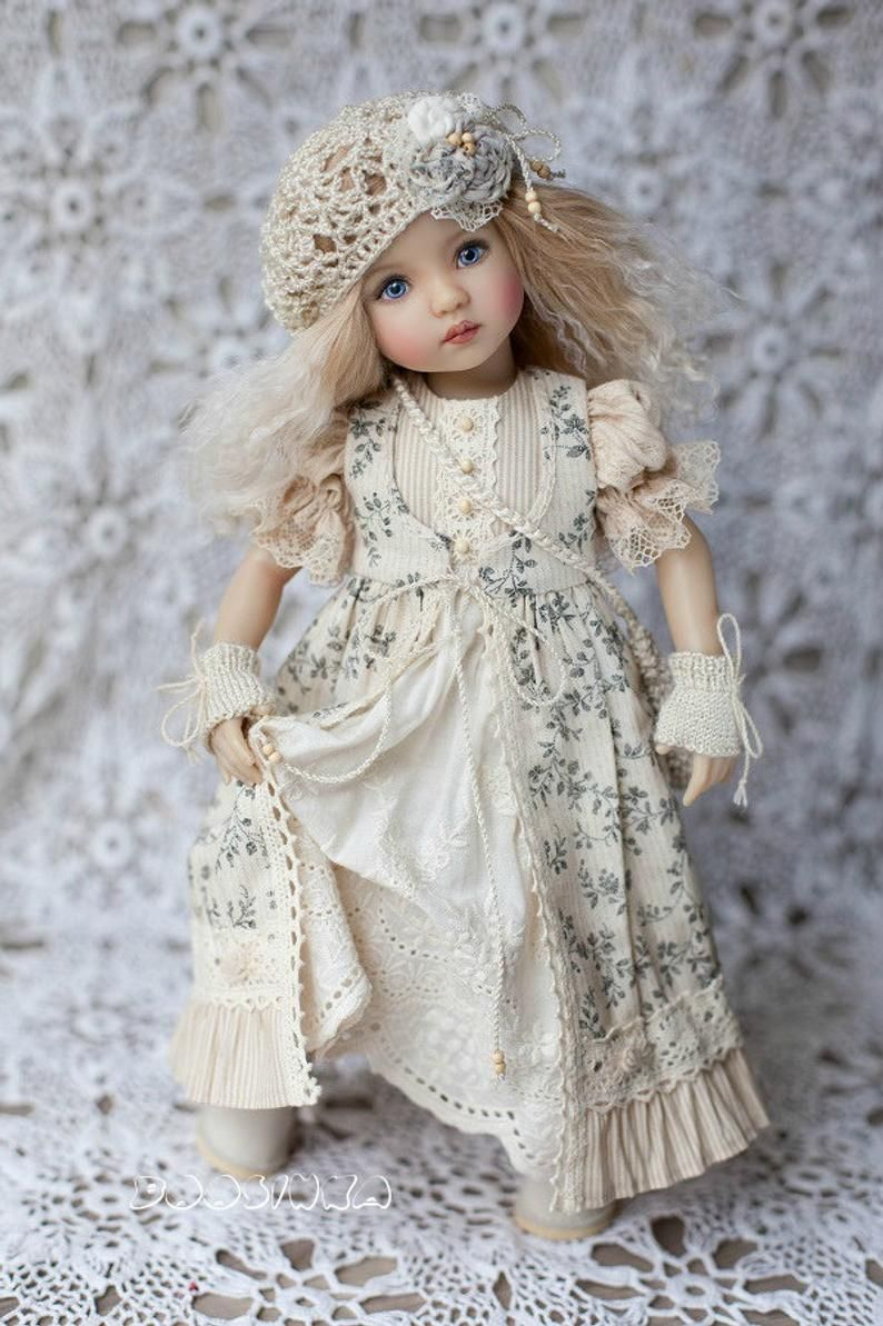 👧👧Little Darling Dianna Effner Doll with dress💝Lolita Style#7