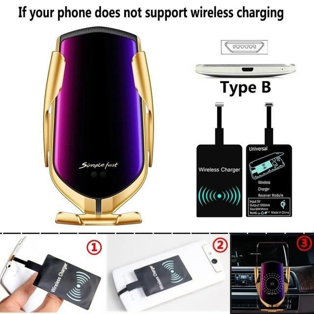 Auto Sensor Car Phone Holder And Charger