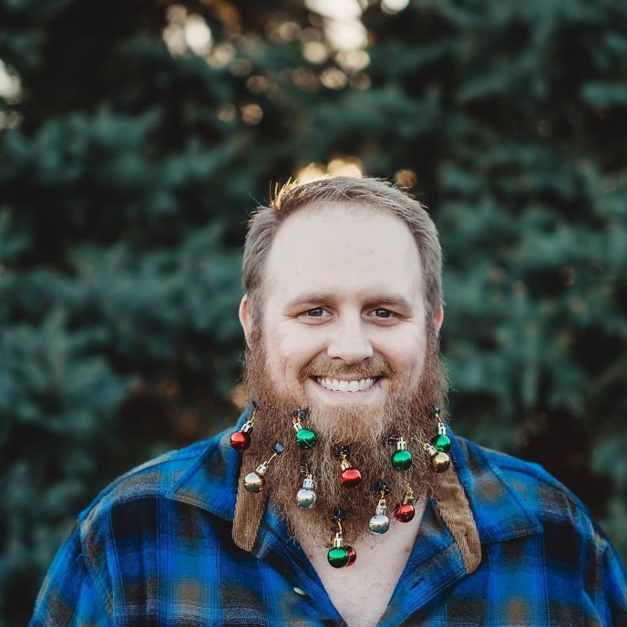 LED colorful lights Christmas Beard Decorations (12-Pack)