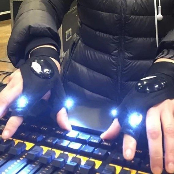 【Over $39Free shipping】LED Glove with Waterproof Lights