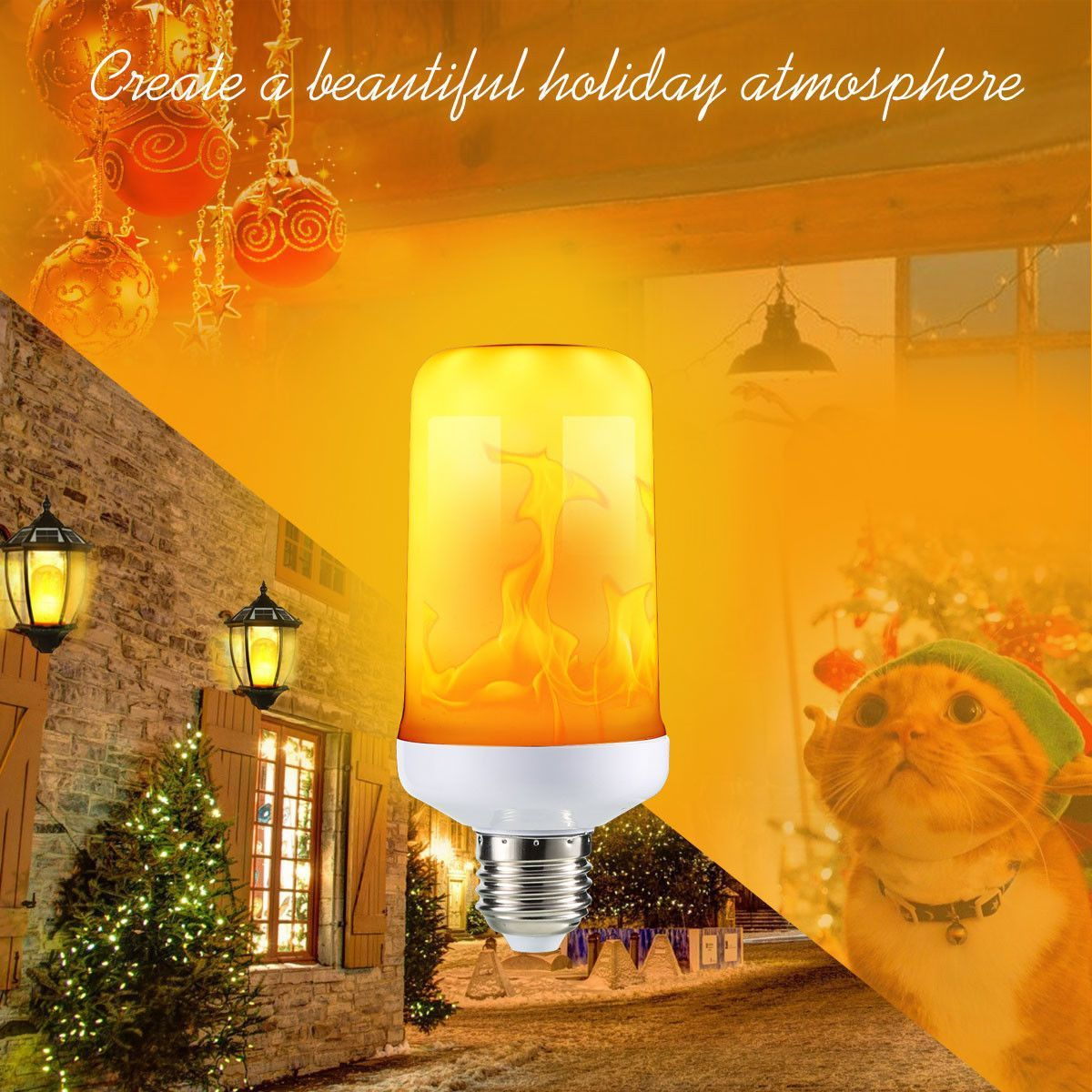 LED Flicker Flame Effect Simulated Nature Fire Light Bulb