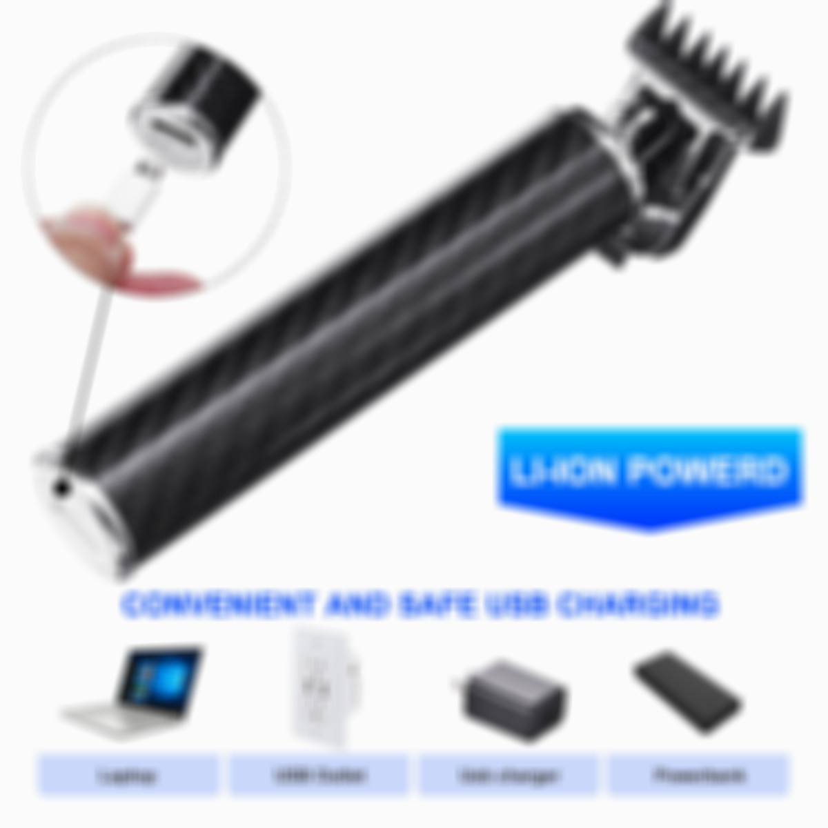 HOT SELL Professional Waterproof Hair Clipper Rechargeable