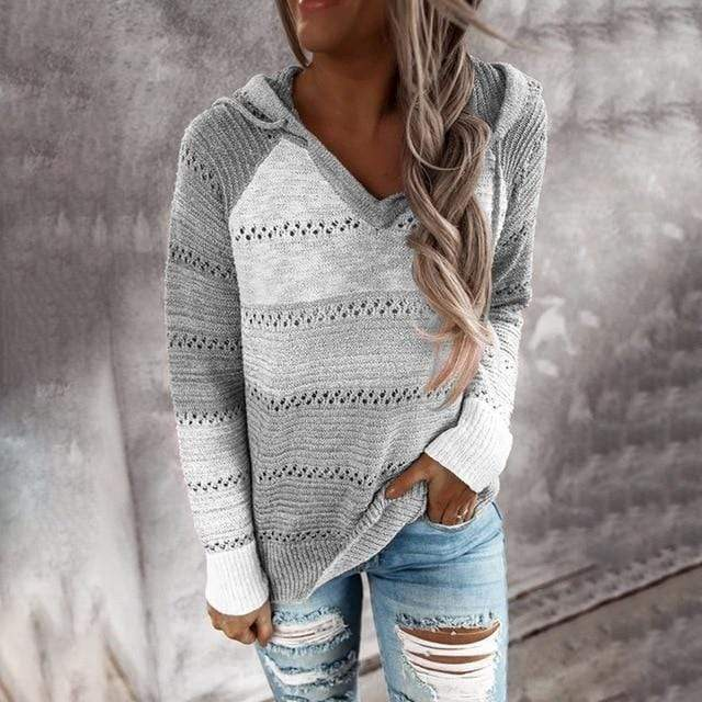 Knitted Hoodie Woman Fall 2020