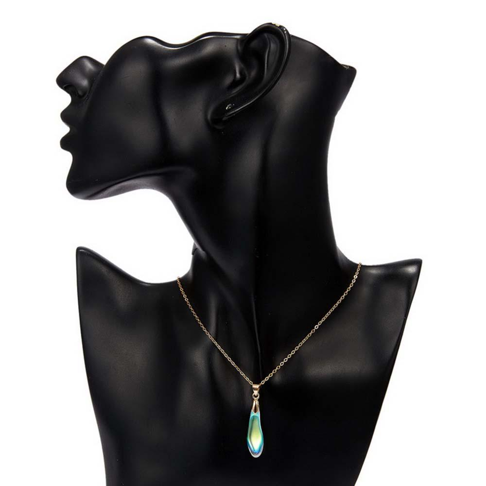 Paper Card Make A Wish Multicolor Pendant Moonlight Opal Clavicle Chain Choker
