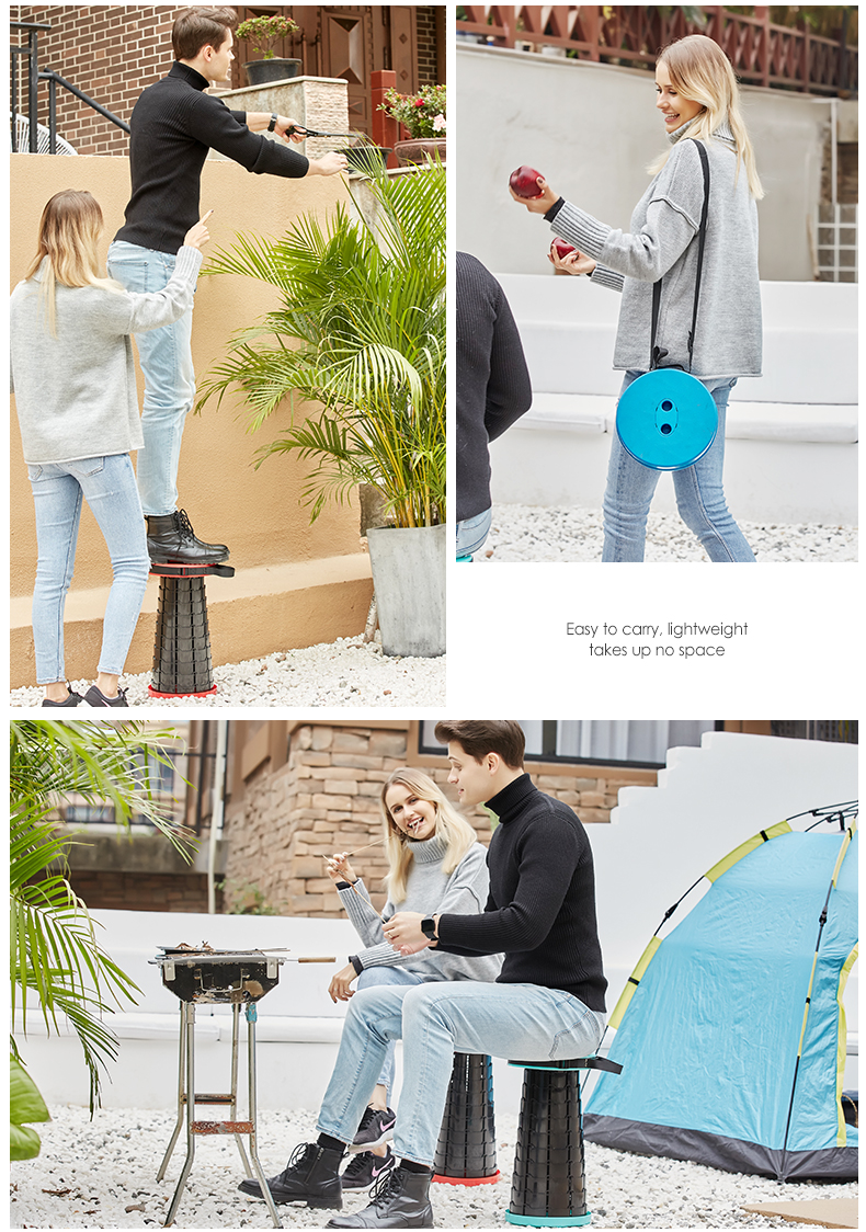 Retractable Stool Folding Chiar Outdoor Camping Fishing or Indoor