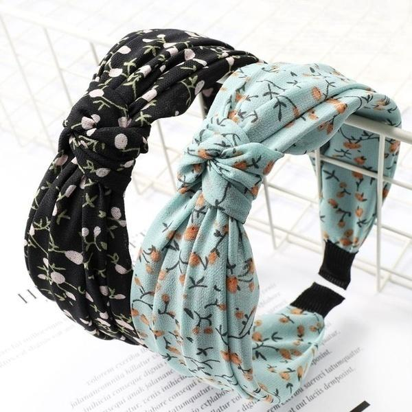 Pastoral Style Women Decorative Headband Pleated Knotted Boho Wide Hair Hoop Vintage Styling Headpiece