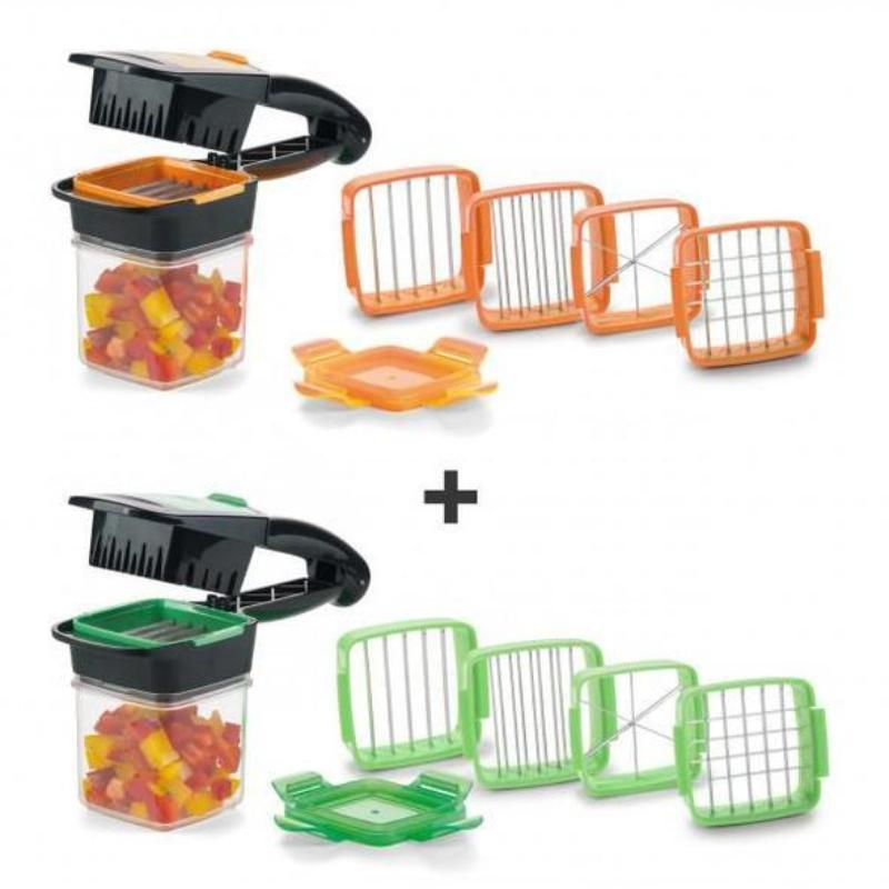 Rapid Fruit Vegetable Kitchen Mandoline Dicer Set with 200ml Container