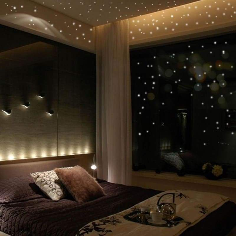 407Pcs Round Dots Glow In The Dark Luminous Star Wall Stickers Decal Kids Bedroom Decor