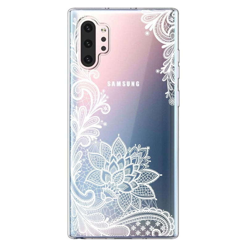 Case For Samsung A20E A10 A30 A40 A50 A70 S10Plus S10e S10 S10(5G) Note10 Note10 Pro Luxury 3D Lace Flower Floral Phone Case For iPhone XsMax Xs Xr X Back Cover For Huawei P30Pro P30Lite P30 P20Pro P20Lite Etc