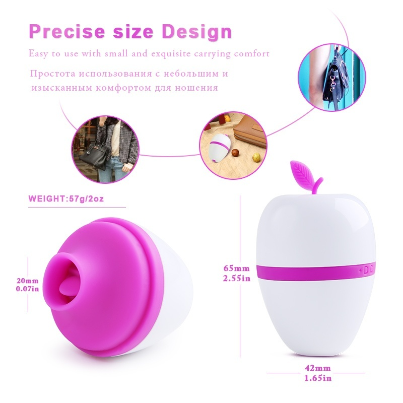 7 Frequency Sucking Vibrating Clito-ris Stimulator Lick-ing Ton-gue Vibrator Nipple Sucker Vibrator Oral Sex Toys for Woman