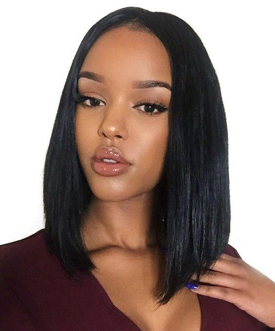 Amazing Bob Style Natural Color Silk Straight Glueless Wig