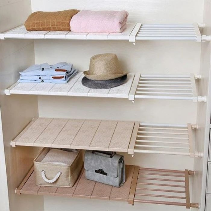 (🎅Early-Christmas Hot Sale-50%OFF) Wardrobe Storage Layered Partition--Buy2 Free Shipping