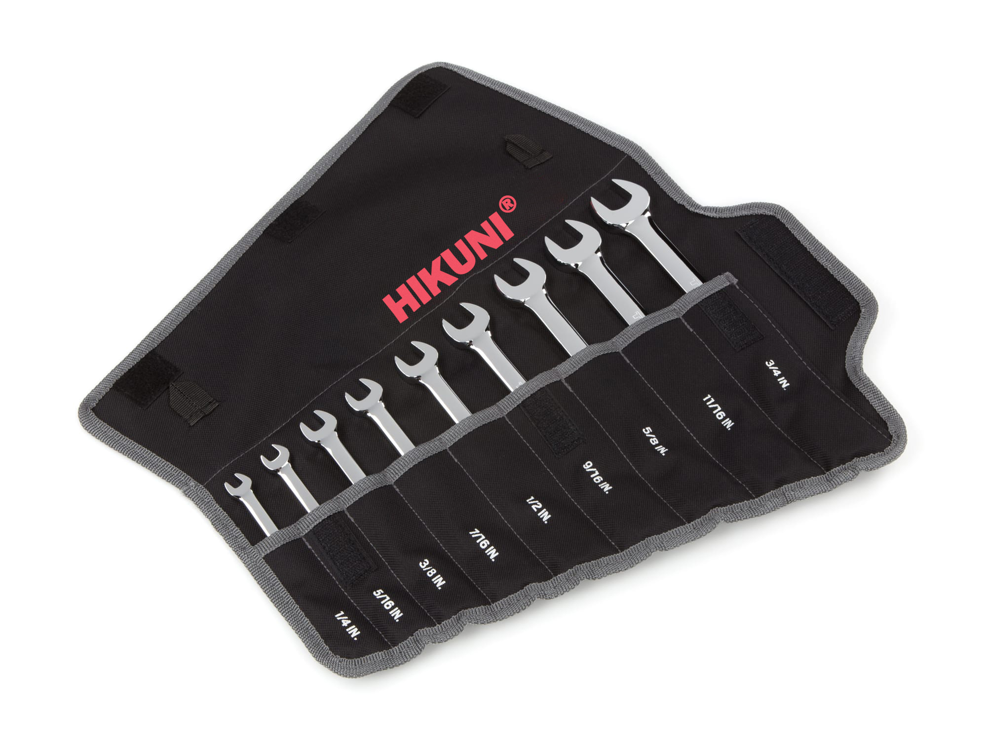 Reversible Ratcheting Combination Wrench Set, 12-Piece (8-19 mm) - Pouch
