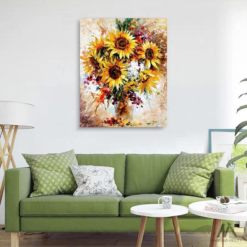 DIY Painting By Numbers - Yellow Sunflower (16