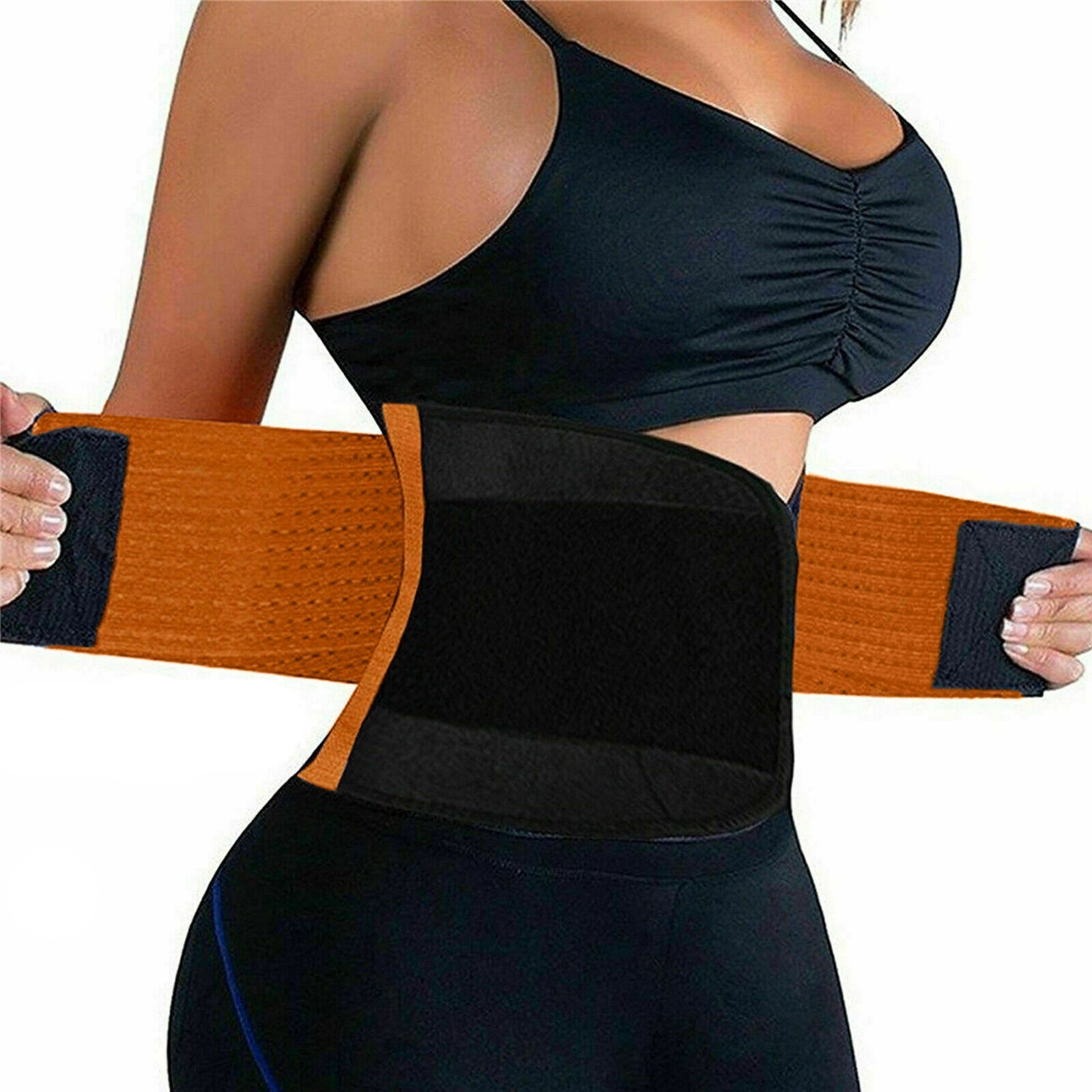 HOT Slimming Belt Power Slimming Belt Body Shaper Waist Trainer Trimmer Sport Gym Sweating Fat Burning Slim S-2XL