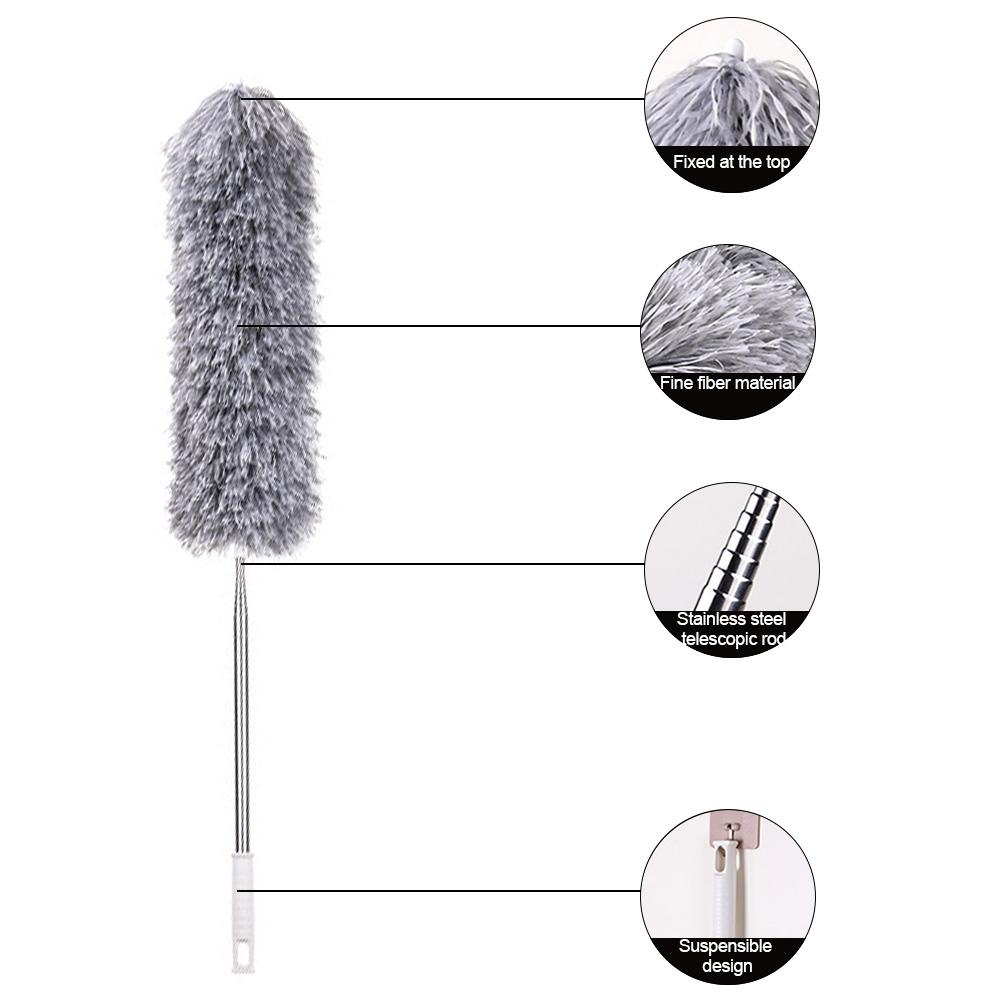 Adjustable Soft Microfiber Duster Dusting Brush Household Cleaning Tool