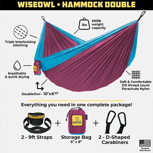 Portable Outdoor Backpacking Hammock® with Tree Straps - USA Based Hammocks Brand Gear