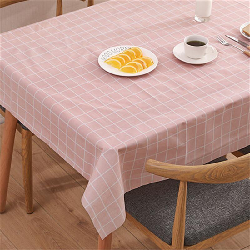Checked Print PVC Waterproof And Oil-proof Tablecloth