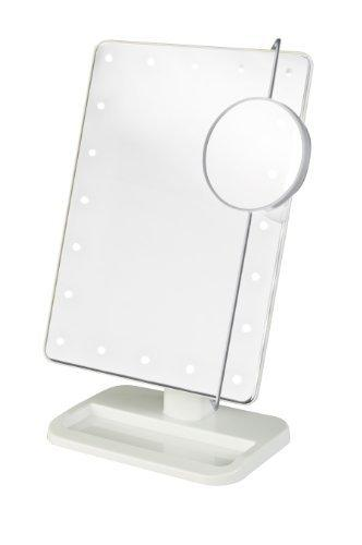 Jerdon JS811W 8-Inch by 11-Inch Rectangular LED Lighted Vanity Mirror with 10x M