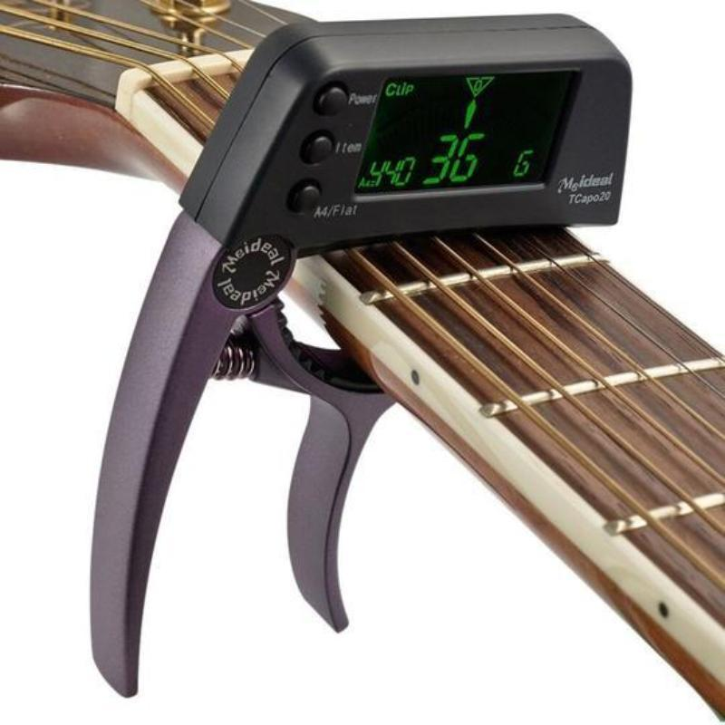 Aluminum Alloy Guitar Capo Tuner with Screen for Acoustic/Electric Guitar