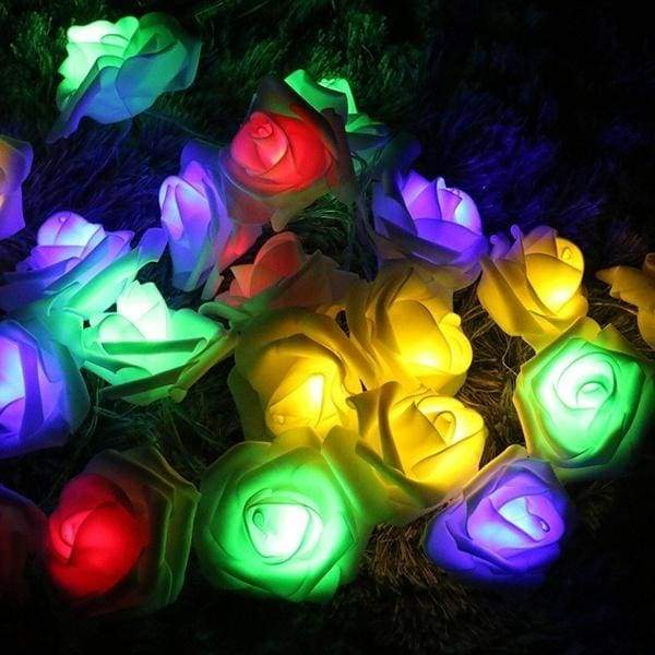 2.2 Meter Battery Powered 20 LED Rose Flower String Fairy Lights Wedding Home Birthday New Year Event Party Christmas Decoration U2AHXL2077/qiao8