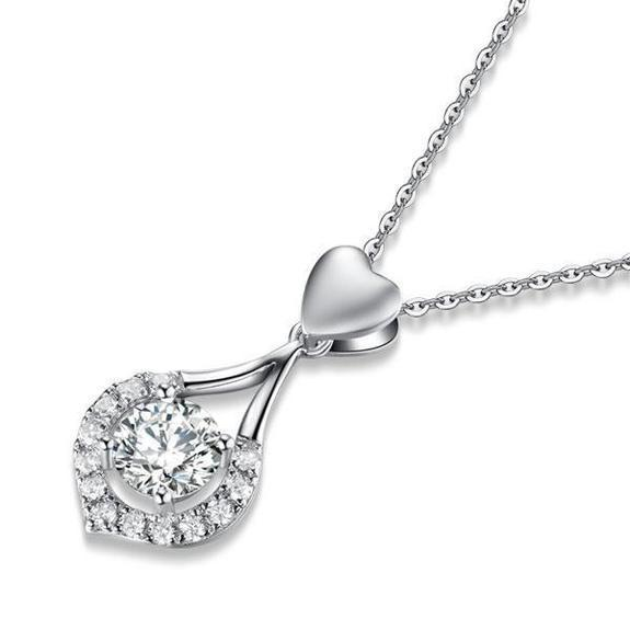 SKRTEN Twinkling Heart Waterdrop Stone Necklace