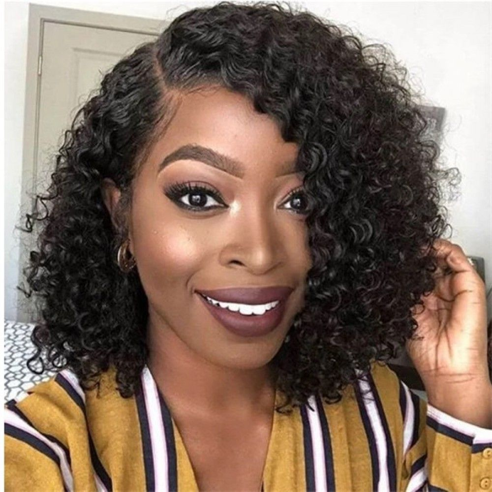 Lace Front Wigs Black Hair short hair bob curly wigs black wigs for black women free shipping