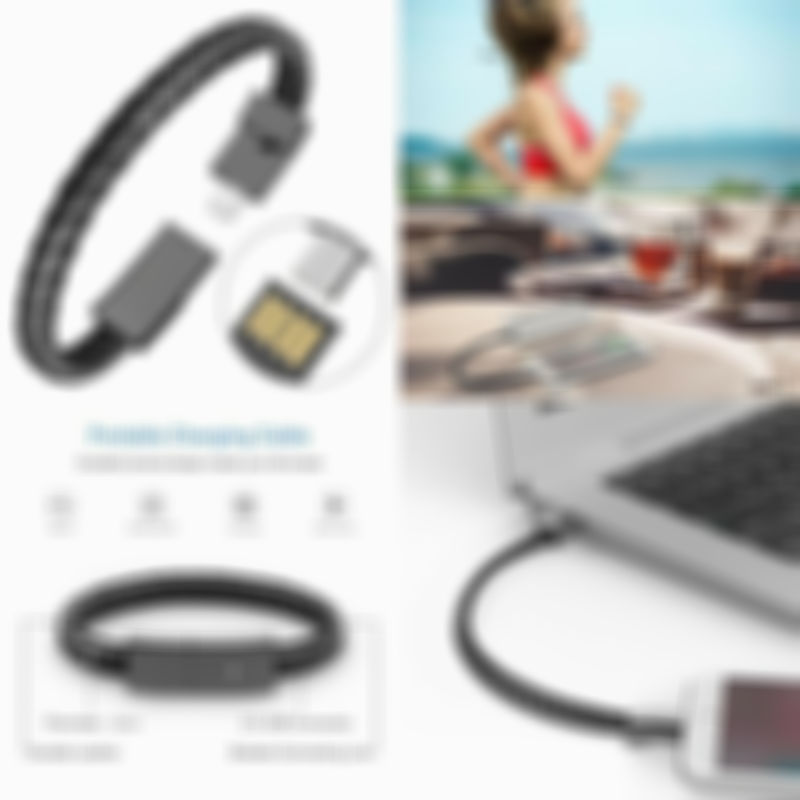 Today Only $7.58--Bracelet data charging cable
