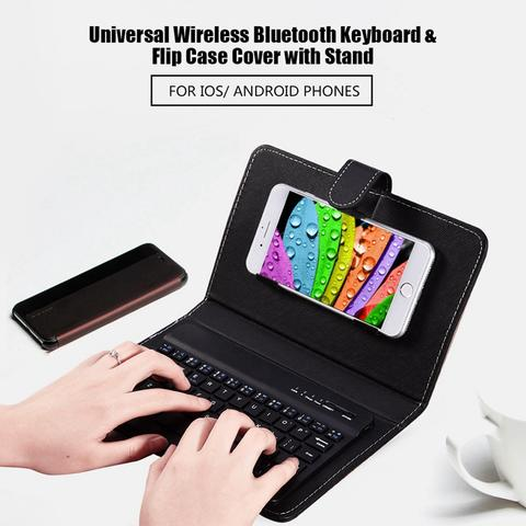 【⭐LAST DAY 50% OFF⭐】Wireless Bluetooth Keyboard With Leather Case(Free Shipping)