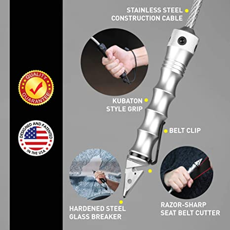 STINGER WHIP CAR EMERGENCY TOOL WITH BELT CUTTER