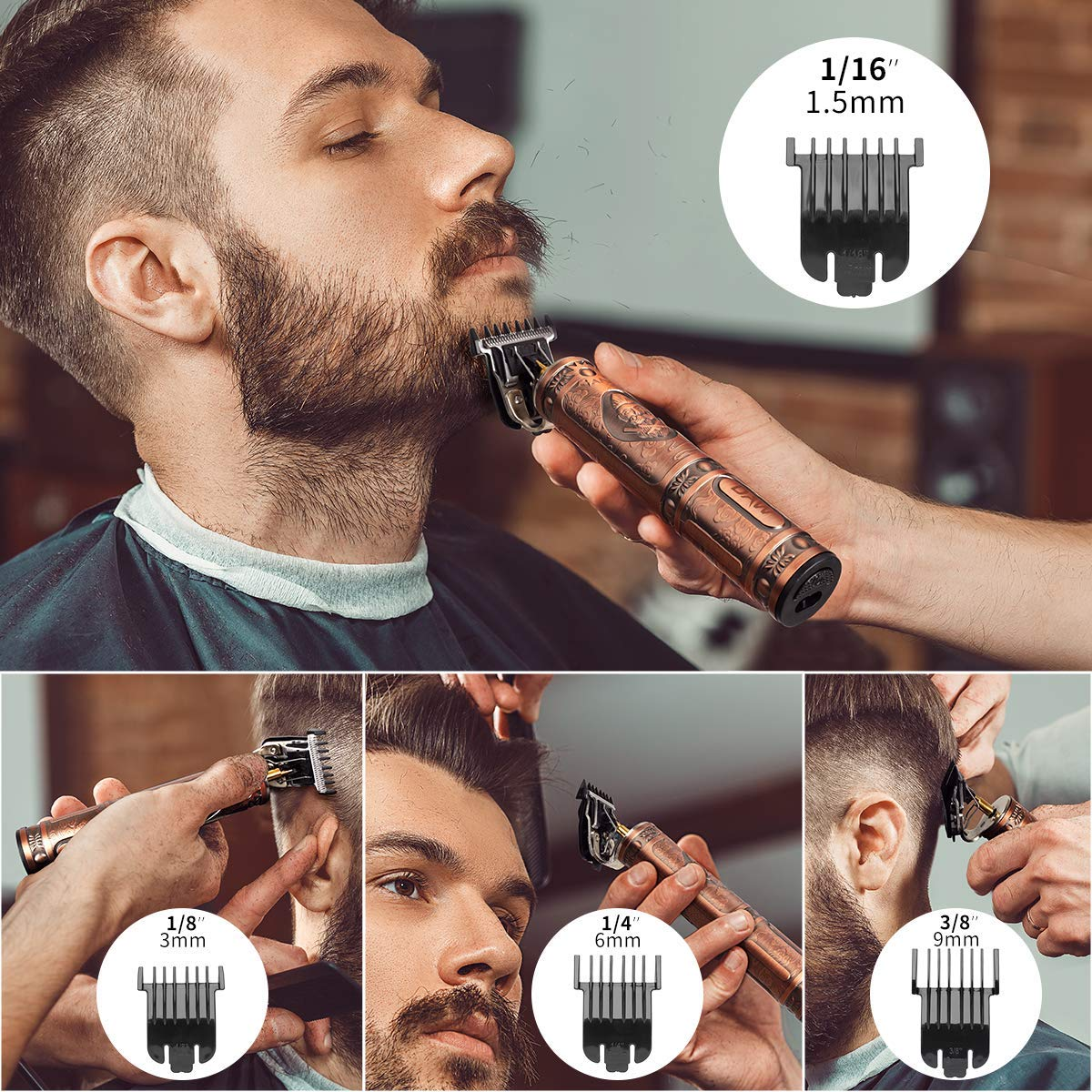 2020 New Rechargeable T-blade Men's Hair Clipper