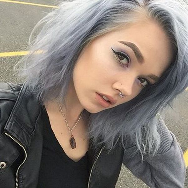 Gray Wigs Natural Hair Line Lace Frontal Wigs Brazilian Wet And Wavy Grey Wigs For Elderly Ladies Light Pink Wig Short Grey Hair Styles Real Human Hair Clip In Extensions