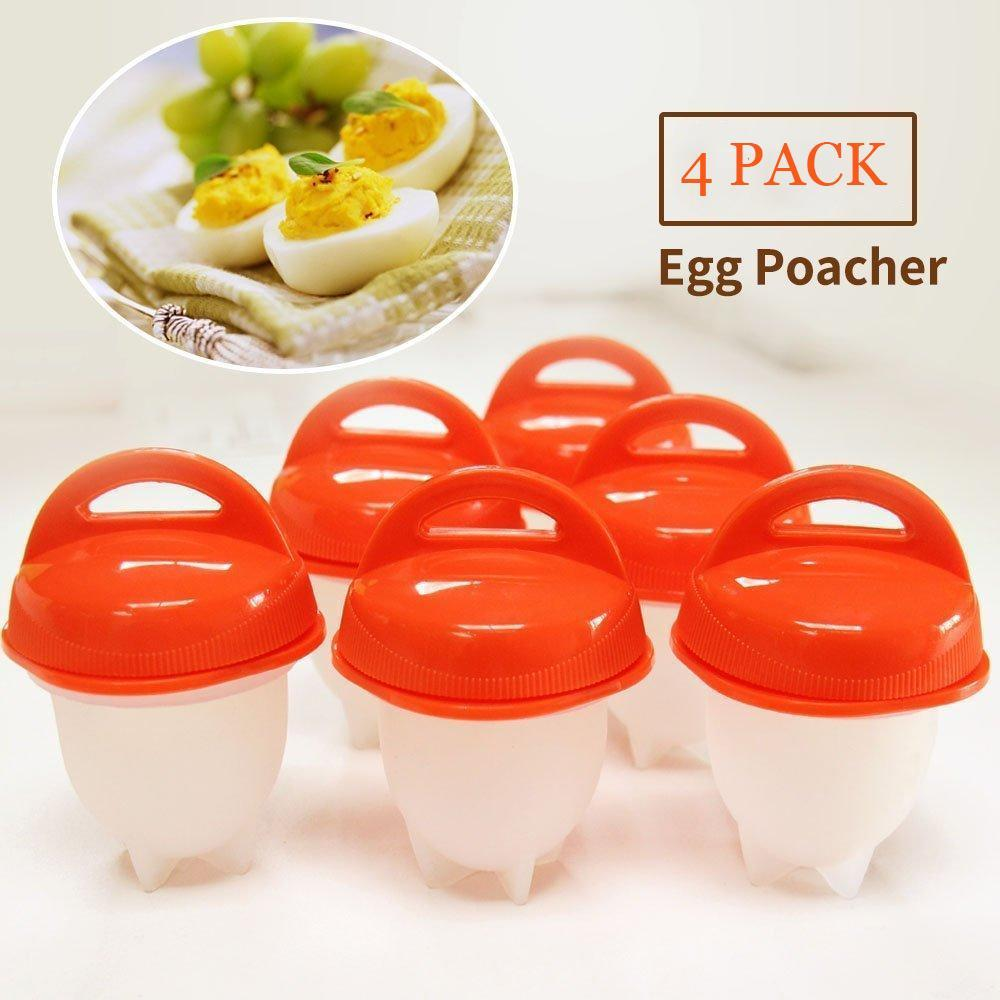 6Pcs/Lot Silicone Egg Poacher Poaching Pods Egg Mold Rings Cooker Boiler Cuit Oeuf Dur Kitchen Cooking Tools Pancake Maker