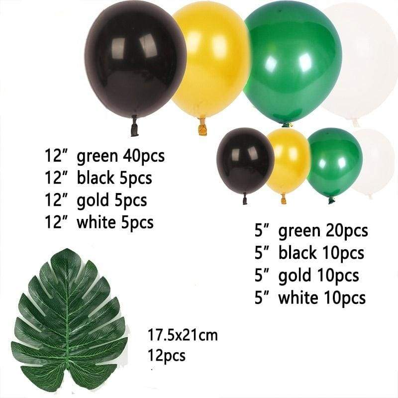 119Pcs Jungle Safari Tropical Theme Party Balloon Arch Forest Latex Ballon Garland Set for Kids Baby Shower Birthday Zoo Hawaiian Party Decor