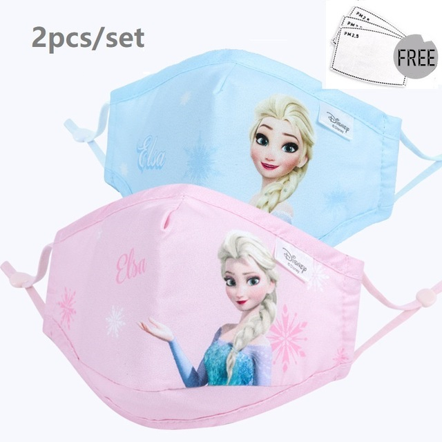 Cartoon Children's Face Facial Cover Sponge Protective For Boys Girls 3-12 Years Old