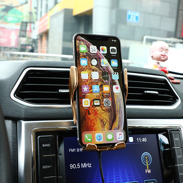 50% OFF Today-Wireless Automatic Sensor Car Phone Holder And Charger