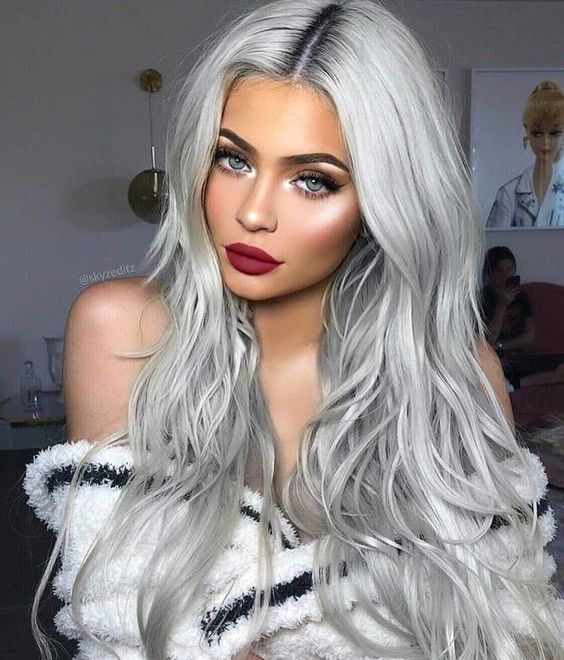 2020 New Gray Hair Wigs For African American Women Short Synthetic Wigs Grey Wigs Near Me Grey Hair Men Grey Purple Short Hair Transparent Wig