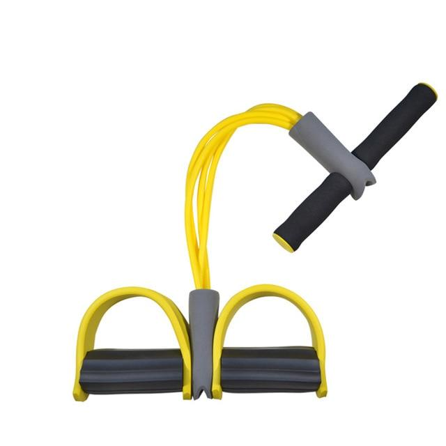4-Tube Foot Pedal Resistance Band Elastic Pull Rope Fitness Equipment