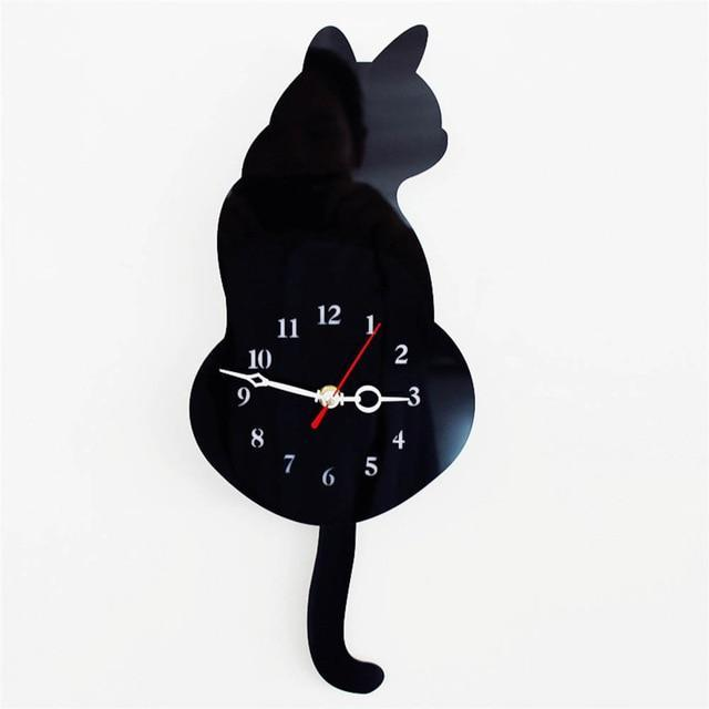 3d Cute Cat Wall Clock