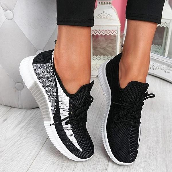 Zoeyootd Breathable Lightweight Lace-Up Sneakers