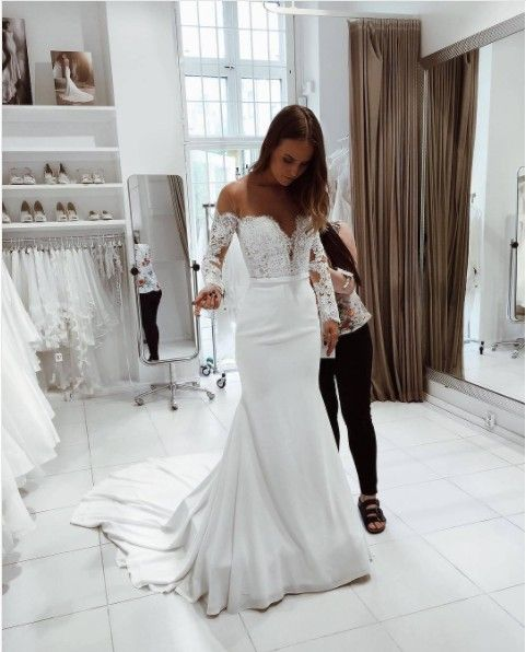 Lace Wedding Dresses 2020 New 715 Lace Styles For Gown Bridesmaid Boxes Black Lace Wedding Gown Women'S Plus Size Clothing Online Trusted Online Wedding Dress Sites Tropical Floral Dress